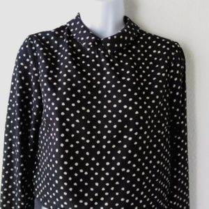 Urban Outfitters Silky Polka Dot Zipper Top - NWT